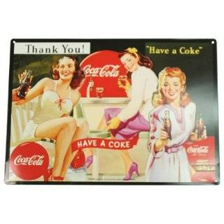 Coca Cola Tin Metal Sign  Now For A Coke