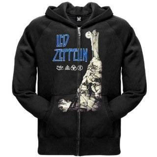 Led Zeppelin   Tour 75 Zip Hoodie Clothing