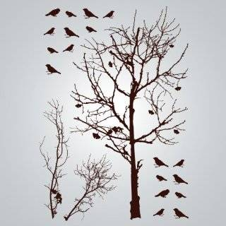 & Tree Removable Vinyl Home Wall Art Sticker Decals