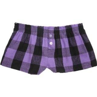 Purple Punch Plaid Check Cotton Girl Boxers Mini Itty Bitty Shorts 1