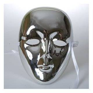 Plastic Halloween White Drama Party Kids Face Masks