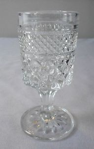 "Anchor Hocking Glass Wexford 4 1 2"" Wine Glass Goblet 3 oz Clear Crystal"