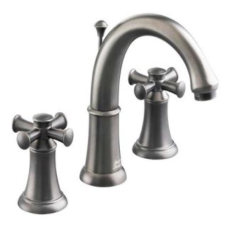 American Standard 7420 821 Satin Nickel Double Handle Widespread Bathroom Faucet