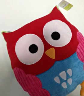 Owl Pillow Baby Nursery Decor Kids Bed Room Soft Plush Toy