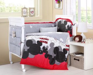 Baby Bedding Crib Cot Sets 10 Piece Mickey Mouse Theme RRP $180