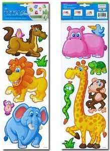 Nursery Childrens Kids Boys Girls Bedroom Jungle Animal Wall Furniture Stickers
