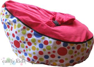 Baby Toddler Kids Portable Bean Bag Seat Snuggle Bed Polka Dot Red