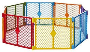 Portable Indoor Outdoor 8 Panel Safety Pet Dog Baby Toddler Play Gate Fence