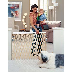 North States Baby Pet Expandable Swing Wooden Child Safety Gate Extra Wide New