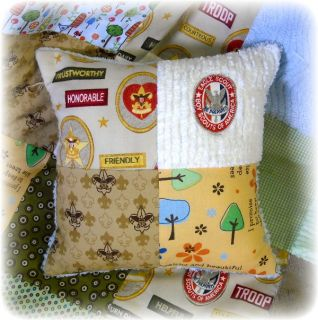 Little Boy Scout Chenille Baby Crib Quilt Bedding Trees