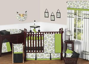 Sweet JoJo Designs Modern Circle Gender Neutral Baby Girl Boy Crib Bedding Set