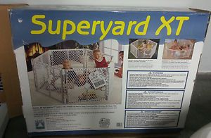 North States Superyard Super Yard XT Baby Pet Gate Play Yard in Box Great Cond