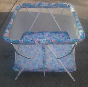 Graco Vintage Square Play Pen Playpen Yard Old Pack Play Animal Print Baby Crib