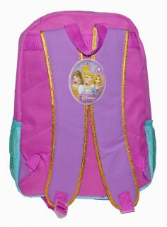 "Backpack 16"" Disney Princess Ariel Little Mermaid School Kids Large Book Bag New"