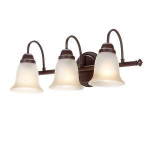 Commercial Electric 892556 Bath Bar 3 Light Bathroom Vanity Fixture Nutmeg
