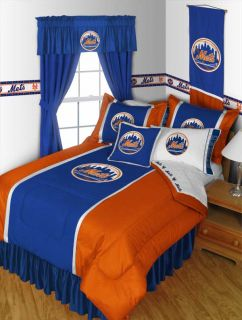 MLB New York Mets Baseball Twin Bedding Comforter Set