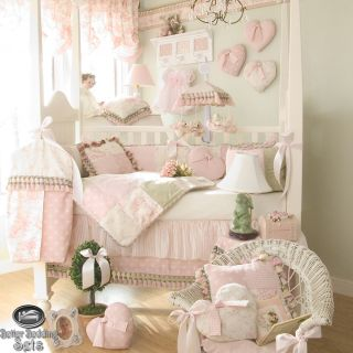Baby Girl Pink Boutique Designer Toile Quilt Crib Nursery Newborn Bedding Set