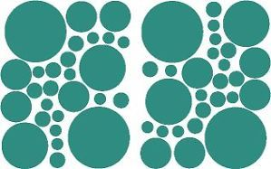 54 Teal Green Polka Dots Bedroom Wall Decals Stickers