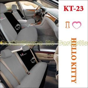 New Hello Kitty Thick Car Seat Covers Set 10 Pcs KT23