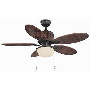 Hampton Bay Tahiti Breeze 52 in Indoor Outdoor Natural Iron Ceiling Fan