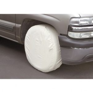 Set of 4 Canvas Rim Wheel Tire Covers RV Trailer Car