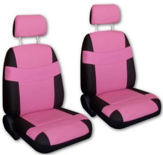 Pink Black Faux Leather Next Generation Car Seat Covers Free Accessories W