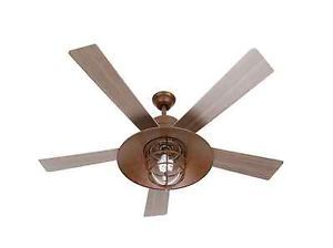 Hampton Bay Metro Ceiling Fan Rustic Copper Design Used Miami
