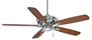 "Casablanca 54"" Academy Chrome 4 Speed Pull Chain Ceiling Fan C38U199K"