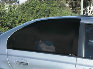 Car Window Shade Slip on Sock Sun Screen Protect Kids Baby Sun Removable Pair
