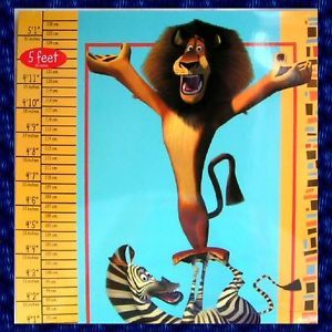 Growth Chart Madagascar Magnetic Kids Boy Girl Children