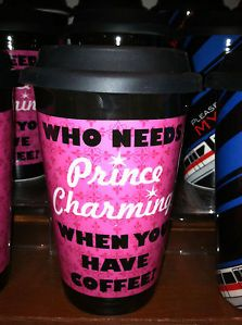 Disney Parks Princess Prince Charming Ceramic Travel Coffee Mug New
