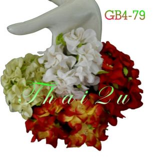 10 Gardenia Red White Green Paper Flower Christmas Craft Supply Flowers ZGB4 79