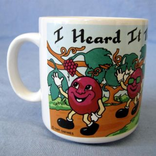 Coffee Mug Cup Stoneware California Raisins Advertising Promo Smith Western