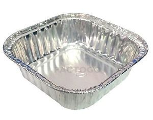 "3 1 2"" Square Aluminum Foil Cake Pan 4 oz Disposable Small Baking Food Tins"