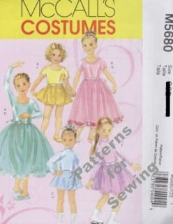 Pattern McCalls Sewing Girl Fairy Angel Dress Ballet Costume Sz 7 14 New