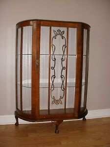 Antique Art Deco Curio Cabinet Vitrine Circa 1920'S