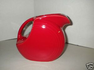 Fiestaware Fiesta Ware Large Disc Scarlet Red Pitcher for Juice Water Serving