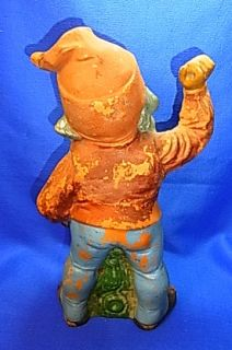 Vintage German Pottery Garden Yard Gnome