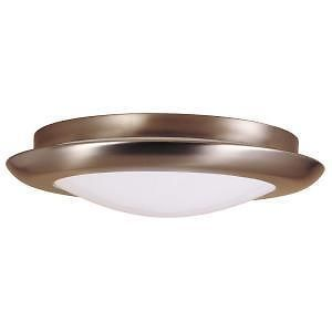 Hampton Bay 1 Light Flush Mount Brushed Nickel Fluorescent Fixture 164 611