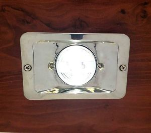 Marine Boat LED Stern Light Rectangular Stainless Steel Spashproof Flush Mount