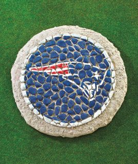 New England Patriots NFL Football Mosaic Garden Stepping Stone Yard Patio