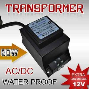 12 Volt 60 Watts AC DC Transformer Water Proof LED Lights Electrical Appliances