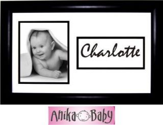Personalised Photo Name Frame Baby Children Child Pet Dog Cat Horse Black White