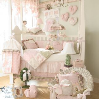 Glenna Jean Baby Girl Pink Toile Boutique Crib Nursery Linen Bedding Quilt Set