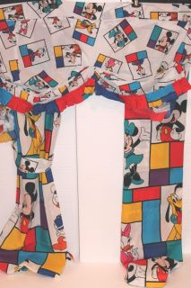 Disney Mickey Minnie Mouse Goofey Children Bedroom Curtains Valance Pillow Case