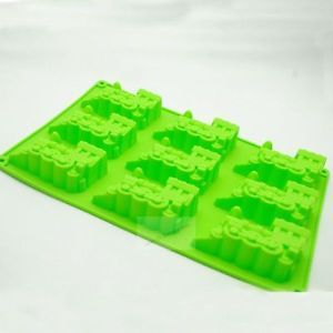 Train Shape 9 Cavities Food Grade Silicone Bakeware Baking Mold Jelly Cake Pan