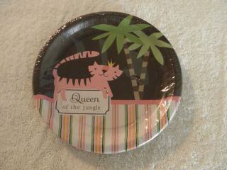 Queen of The Jungle Baby Shower Dessert Plates
