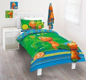 Dinosaur Train Quilt DOONA Duvet Cover Set Bedding Boys Girls Kids Buddy Toy New