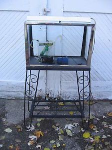 Vintage Chrome Metal 23 Gallon Fish Aquarium Hood Accessories