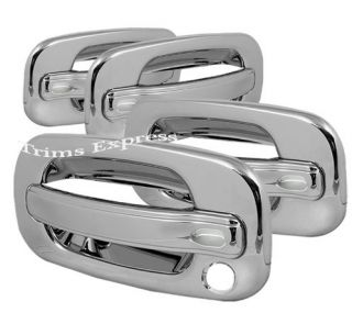 1999 2006 Chevy GMC Silverado Sierra 4 Chrome Door Handle Covers No PSKH